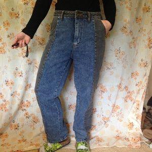 2 tone mom jeans